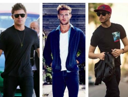 Hombres con distintos estilos para eventos al aire libre.