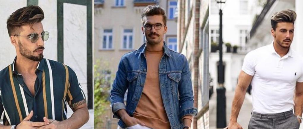 Hombres con ropa de verano.