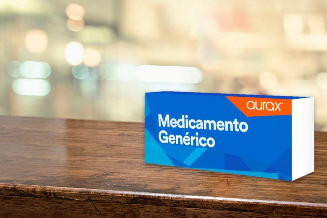 caja de medicamento genérico Aurax
