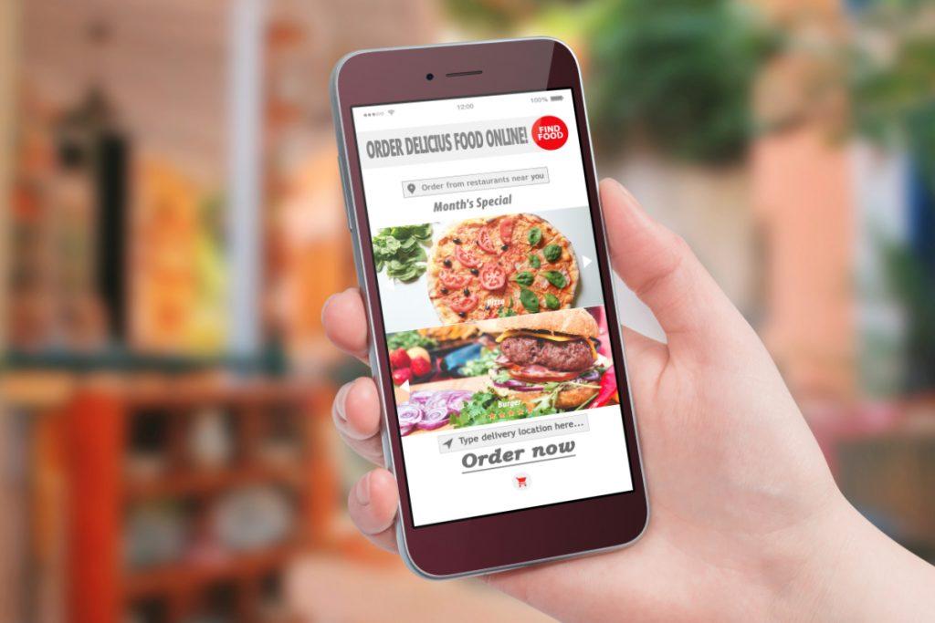 Aplicación de entrega de comida a domicilio