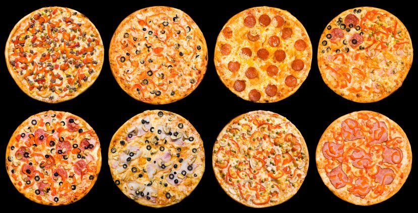 ocho tipos de pizzas