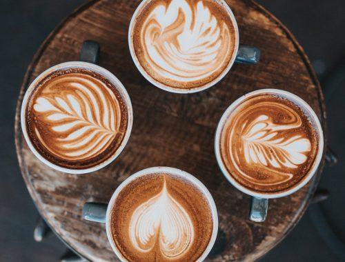 cuatro tipos de café con leche